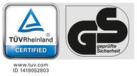 Kontrolovaná bezpečnost, TÜV GS ID 1419052803